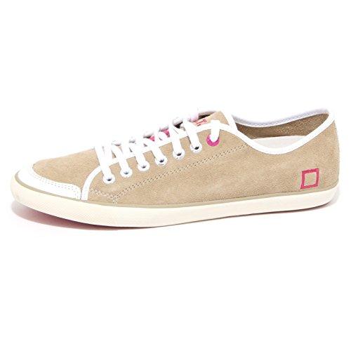 0827O sneakers donna D.A.T.E. suede sabbia shoes woman Sabbia