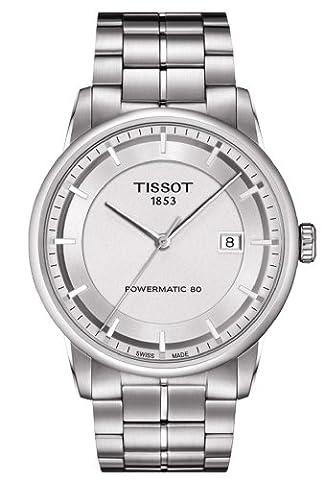 Herren Uhr Tissot T0864071103100Schalter Stahl Quandrante Silber Armband Stahl