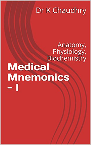Medical Mnemonics - I: Anatomy, Physiology, Biochemistry eBook: Dr K ...