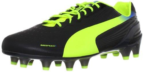 Puma evoSPEED 1.2 FG 102833 Herren Fußballschuhe Schwarz (black-fluo yellow-brilliant blue 01)