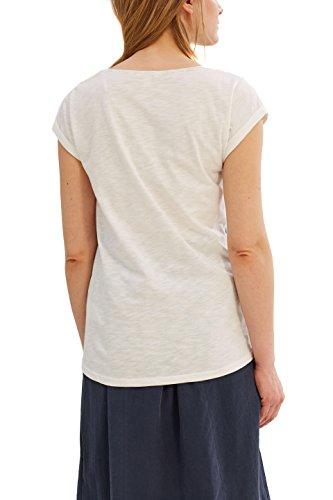 ESPRIT Damen T-Shirt 037ee1k006 Mehrfarbig (Off White 110)