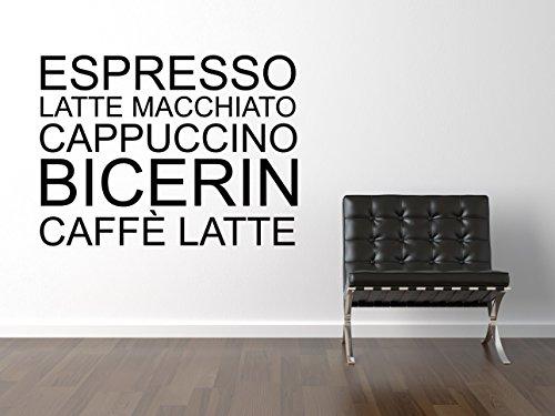 Espresso Latte Wandtattoo Black Certified Freak