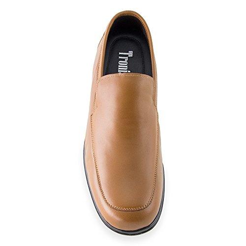 Scarpe da uomo che permettono di aumentare la statura fino a 7 cm. Modello Flex Nature A marrone taglia 44