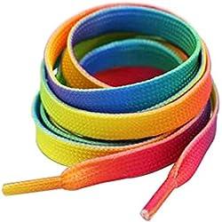 Juego de 4 cordones Adecuado para zapatos deportivos [Multicolor]