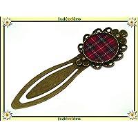 Segnalibri libro resina quadratini tessuto tartan Outlander rosso regali personalizzati regalo di Natale amici compleanno cerimonia di nozze ospiti festa del padre della mamma coppie