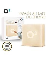 O³ Savon Lait de Chevre-Savon Exfolliant fait main-Combat l'acné, soulage l'eczéma-120gr de savon artisanal