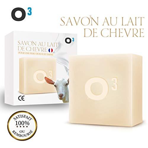 O³ Savon Lait de Chevre-Savon Exfolliant fait main-Combat l'acné, soulage l'eczéma-120gr de savon...