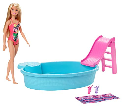 Barbie GHL91 - Pool und Puppe (blond)