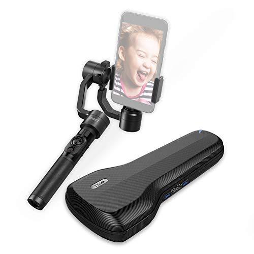 dobot rigiet, 3ejes Handheld Gimbal para Android y iOS smartphone como iPHONE X, Samsung y cámara de acción como GoPro, Autotrack, filtro Livestream, velocidad, Timelaps–versión 1.1