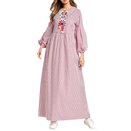 Zhhlaixing Moda Amarillo / Rojo / Azul Marroquí Caftán Dubai Malay Jalabiyas Vestido Largo Traje de Robe Abaya Ropa Islámica para Mujer