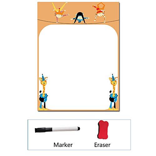 XM&ZF Cute Magnetisches Kühlschrank Aufkleber,Whiteboard Message Board Wiederverwendbar Löschbar Memo Familie Notizen Erase Blatt trocknen Für kühlschrank-J 30x40cm(12x16'')