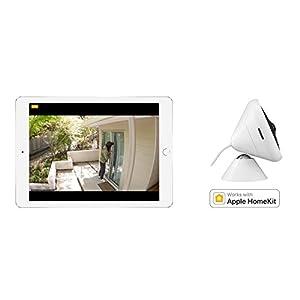 Logitech Circle 2 - Cámara de Seguridad doméstica con Cable para Interior o Exterior Funciona con Alexa, HomeKit y Google