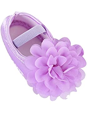 Zhhlinyuan Cute Girls Bebé Soft Sole Shoes Toddler Silk Crib Shoes Princess shoes