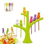 #7: crispy bird Fruit Fork Set ( multi colours )