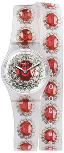 Swatch Reloj de cuarzo Woman Ruby Silver 25 mm