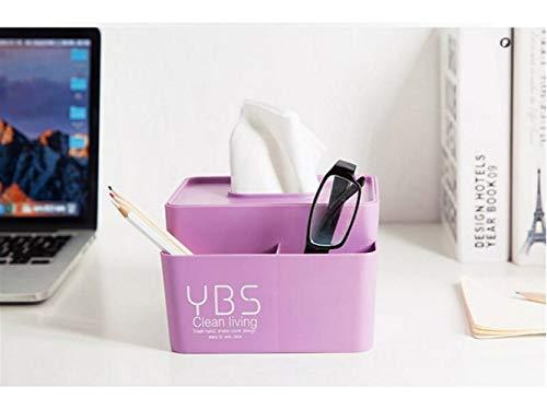 Tjcmss mini scatola portafazzoletti astuccio per tovaglioli in tessuto quadrato portatile per casa e ufficio (rosa) (colore : violet)