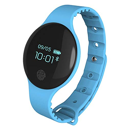 melysEU Hombres Mujeres Unisex Bluetooth Smart Watch Teléfono Impermeable Frecuencia cardíaca Presión Arterial, con cámara Compatible con Android iOS Juvenil Inteligente Teléfono (Azul)