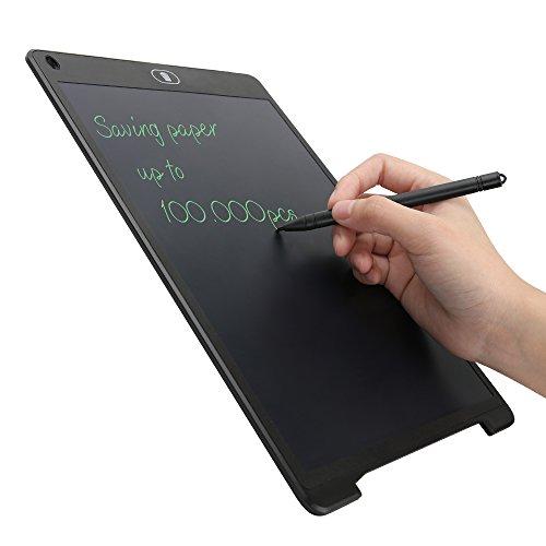 Tablet de Escritura LCD 12 Inch, Tablero de Mensaje & Dibujo Digital de Cristal Líquido LCD de Papel, Memo Pad Electrónico con Lápiz Táctil de Notas y botón de bloqueo para Clase, Oficina, y Más