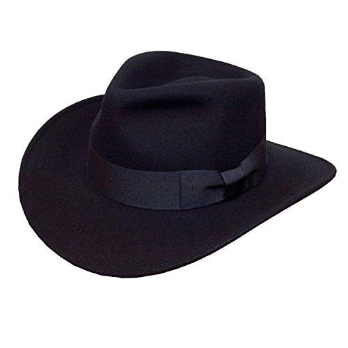 Qualité pour homme Fedora Chapeau Style Cowboy à large bande contrôle 100% laine