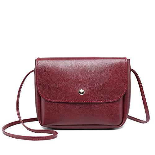 Godatila Solide Kleine Geldbörse Vintage Satchel für Frauen Pu-Leder Abdeckung Haspe Crossbody Tasche Sattel Umhängetasche -