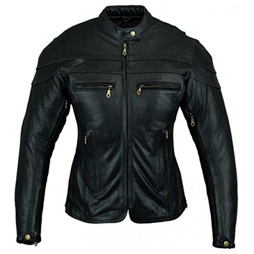 *Australian Bikers Gear – Sturgis Tour – Damen Motorrad-Lederjacke – Protektoren – 44 (2XL)*