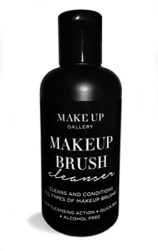 Make Up Gallery Makeup Brush Cleansing Shampoo With Tea Tree and Peppermint Oil - 200ml, Quick Rinse Liquid Soap Formula For Deep Cleansing of All Makeup Brushes