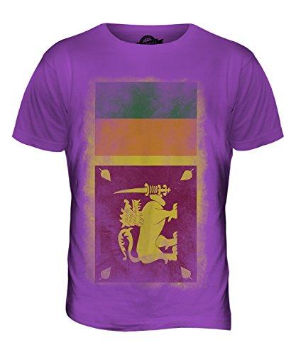 CandyMix Sri Lanka Verblichen Flagge Herren T Shirt Violett
