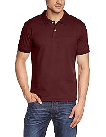 JACK & JONES PREMIUM - Polo Homme - SIMON POLO SS NOOS PR - Rouge (Port Royale 19-1627 TCX) - FR : Small (Taille fabricant : Small)