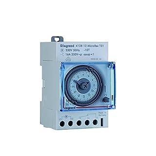 Legrand LEG412812 Horloge programmable analogique Cadran horizontal journalier