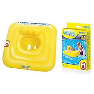 Bestway Baby Swim Safe Seat (Step A) Learn to Swim Square Inflatable,Yellow, 0-12 Months 10