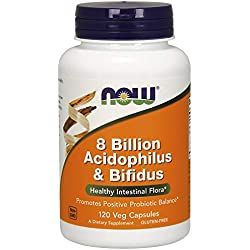 Now Foods, 8 Billion Acidophilus & Bifidus, 120 Veg. Kapseln
