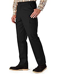 Mens Cotton Cargo Combat Side Elasticated Work Trouser Pants Color