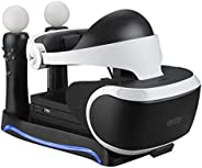 4-in-1PS4VR Ladestation Dock Station für Sony PS4-VR Game Controller schwarz