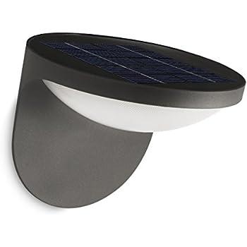 Philips Mygarden Dusk Solar Powered Wall Light Anthracite