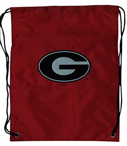 NCAA Georgia Bulldogs Backsack with Draw Strings and Team Logo, Medium, Team Color