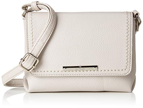 TOM TAILOR Umhängetasche Damen, Lou, Weiß, 19x15x6 cm, TOM TAILOR Taschen für Damen