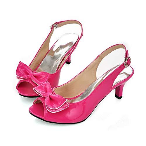 MENGLTX High Heels Sandalen Große Größe 34-46 Damen Schuhe Frau Pumpt 13 Rot (13 Jeans Größe Damen)
