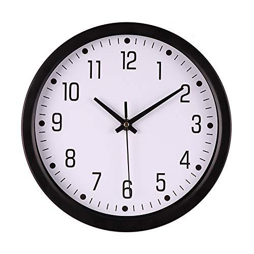 JenK Cing, Funk-Wanduhr, schwarz Digitaluhr Wanduhr,Hauptdekoration Moderne Wanduhr Zeitplan (schwarz C)