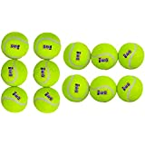 NIRO Rubber Tennis Ball (Pack Of 12, Yellow And Green)