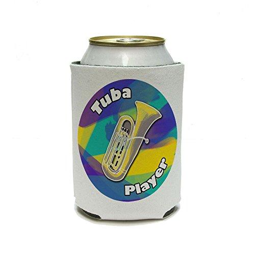 Tuba Player – Groupe Instrument en laiton jaune violet peut refroidisseur isolant – Drink – Boisson Isotherme Support