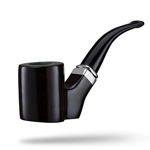 A.P. Donovan - Tabak-Pfeife aus Holz klassisch handgemacht (auch für Einsteiger / Anfänger) aus Ebenholz - für 9mm Filter (Zipacná) (Feuerzeug Tabak Pfeife Und)