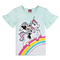 Disney Girl's Minnie Mouse T-Shirt, Blue (Fair Aqua 601), 4 Years