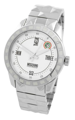 Moschino - MW0022 - Montre Femme - Quartz Analogique - Cadran Argent - Bracelet Métal Argent