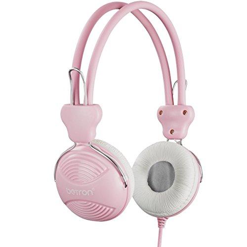 Betron NT902 - Auriculares de Diadema para Niños Rosa