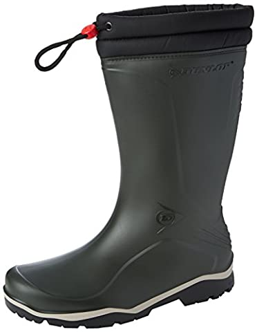 Dunlop Unisex Adults' K454061 GEV.LRS BLIZZ Unlined Rubber Boots Half Shaft Boots & Bootees green Size: