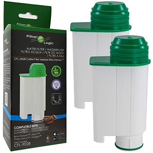 2x FilterLogic CFL-902B - Wasserfilter alternativ zu Saeco Nr. CA6702/00 - Brita Intenza+...
