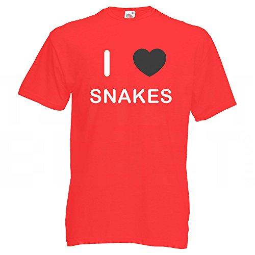 I Love Snakes - T-Shirt Rot