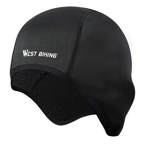 Fahrrad Mütze Frühling Cycling Skull Cap Helm-Unterziehmütze, dehnbarer Kopfwärmer für Outdoor-Sportmütze, ideal zum Radfahren Reiten Laufen Motorradfahren...