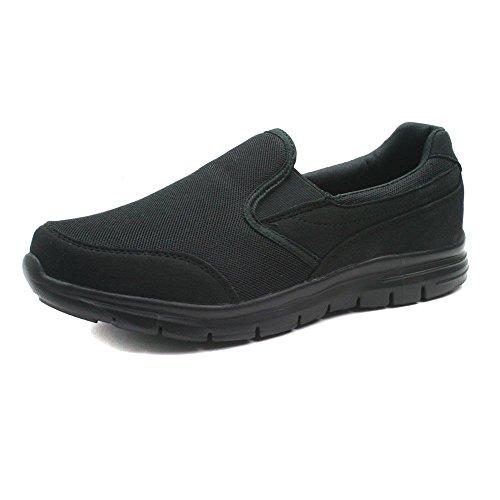 mens-boston-athletics-stride-slip-on-twin-gusset-comfortable-trainers-uk-9-black
