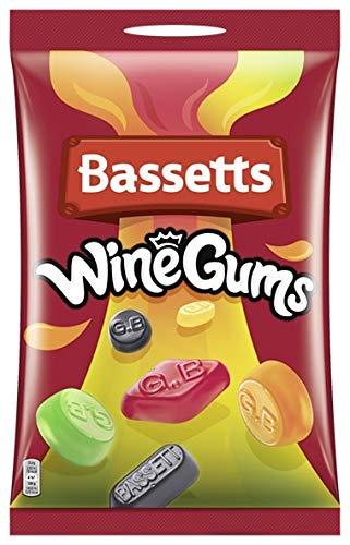 Bassett's Traditional Winegums - Traditionell englische Weingummi-Mischung - Vorratsbeutel - 5 x...
